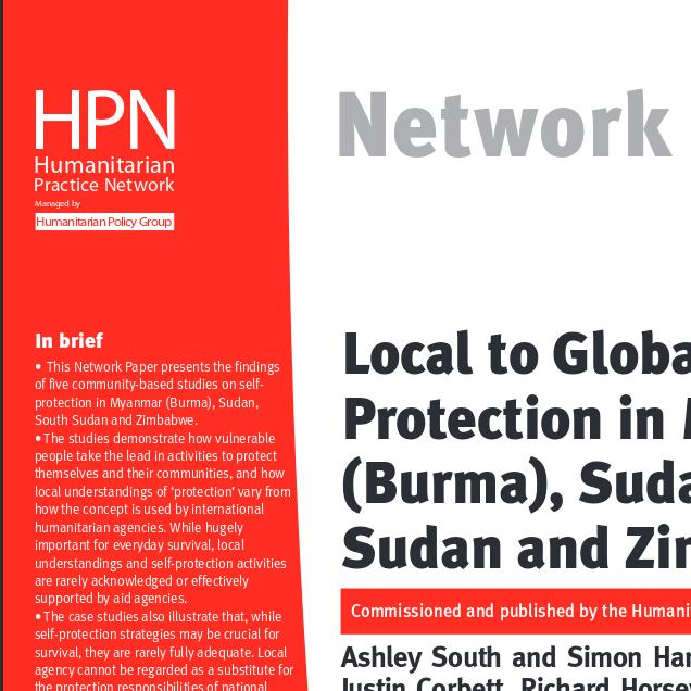 Local to Global Protection in Myanmar (Burma), Sudan, South Sudan and Zimbabwe, ODI HPN Paper 72 Image