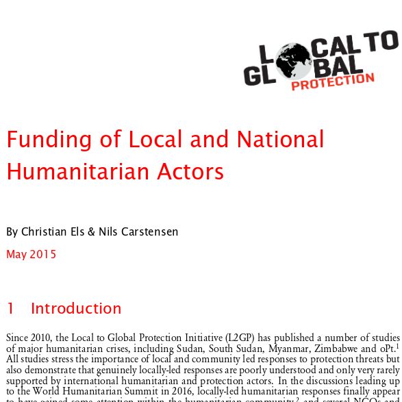 Funding flows to national and local humanitarian actors Image
