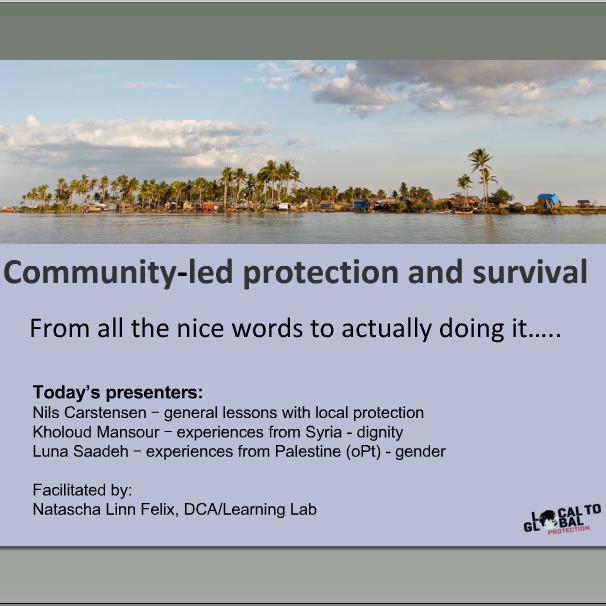 L2GP webinar on community-led protection I Image