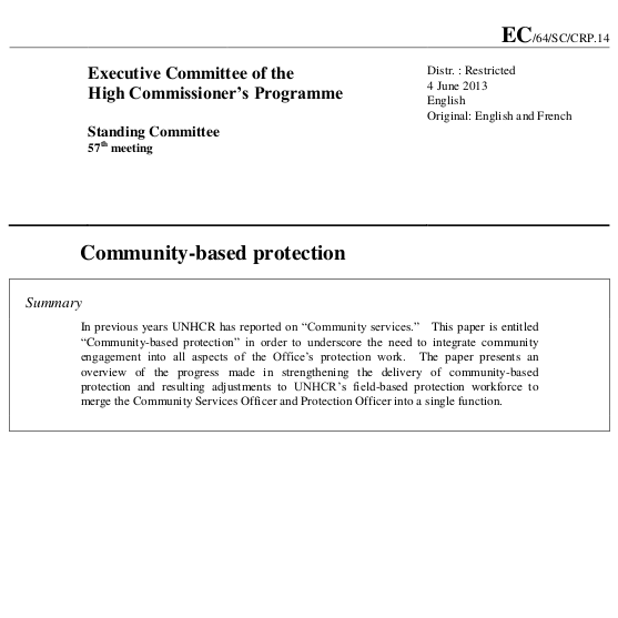 Community-based protection Image