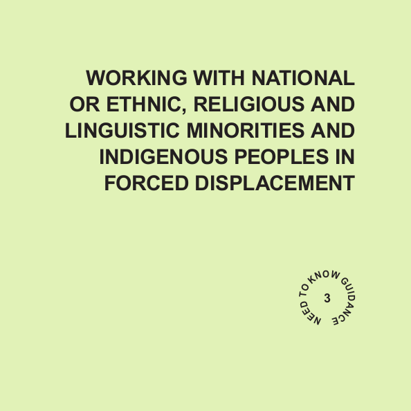 Working with National or Ethnic, Religious and Linguistic Minorities and Indigenous Peoples in Forced Displacement Image
