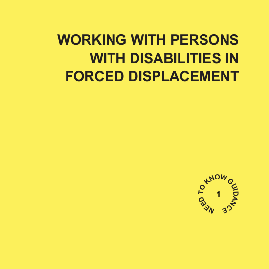Working with Persons with Disabilities in Forced Displacement Image