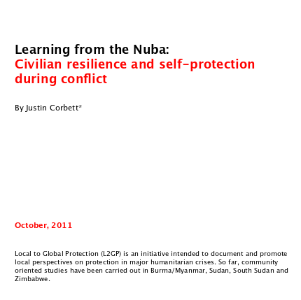 Learning from the Nuba Image